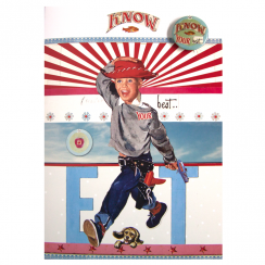 Cowboy Recycled Retro Vintage Card