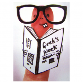 Geek Chic Finger Card
