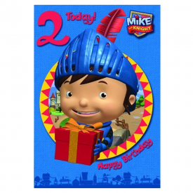 Mike The Knight Age 2 Birthday Card