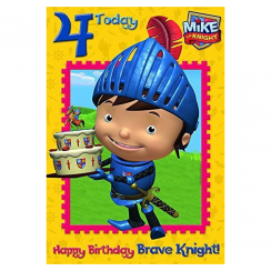 Mike the Knight Age 4 Birthday Card