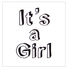 Minimalist It's a Girl Card