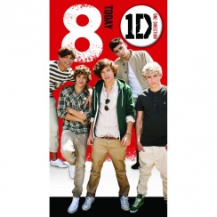 One Direction Age 8 Badge Card