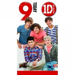 One Direction Age 9 Badge Card