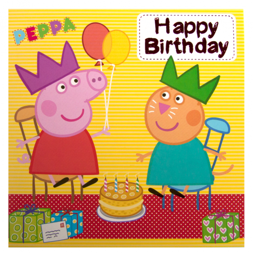 Peppa Pig Birthday Card Available From Flamingo Gifts