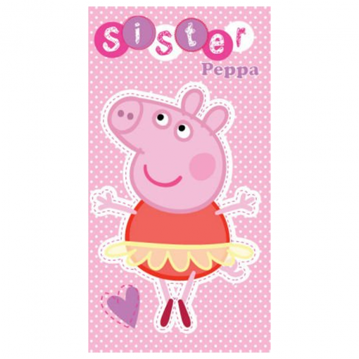 Peppa Pig Sister Birthday Card Available From Flamingo Gifts