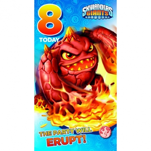 Skylanders Age 8 Birthday Card Available From Flamingo Gifts