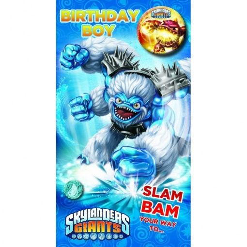 Skylanders Birthday Boy Badge Card Available From Flamingo Gifts
