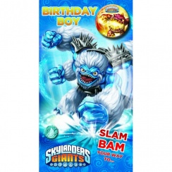 Skylanders Birthday Boy Badge Card