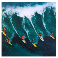 Surfers Photographic Greetings Card