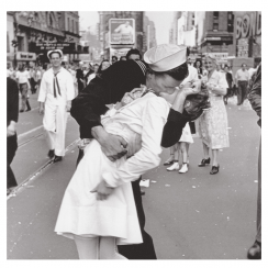 Times Square Sailor Kiss Card
