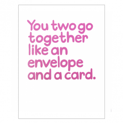 You Two Go Together Card, Waldo Pancake