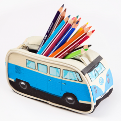 Blue VW Camper Pencil Case