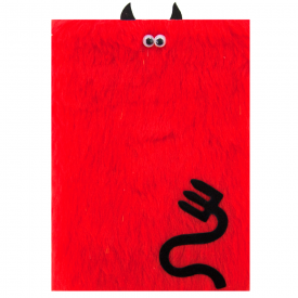 Furry Bright Red Devil Card