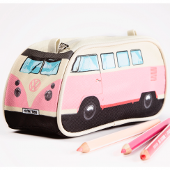 Pink VW Camper Pencil Case