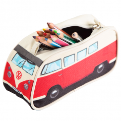 Red VW Camper Pencil Case