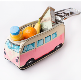 VW Campervan Insulated Pink Lunch Bag