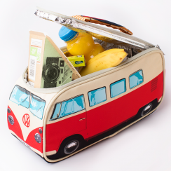 VW Campervan Insulated Red Lunch Bag