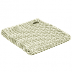 Organic Cotton Herringbone Throw, Olive
