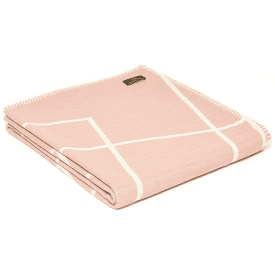Organic Cotton Square Sugar Pink Throw
