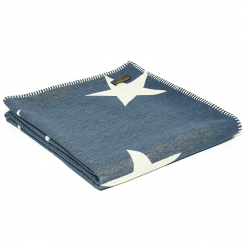Organic Cotton Star Throw, Navy