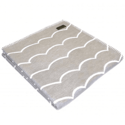 Organic Cotton Wave Throw, Mushroom