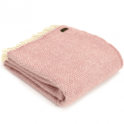 Pure New Wool Beehive Dusky Pink Throw