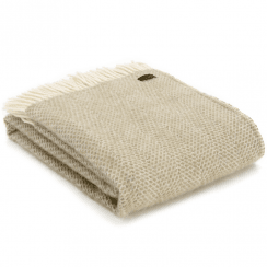 Pure New Wool Beehive Oatmeal Throw