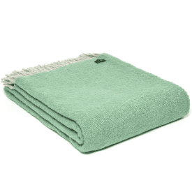 Pure New Wool Boa Sea Green Throw