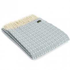 Pure New Wool Cobweave Duck Egg Throw