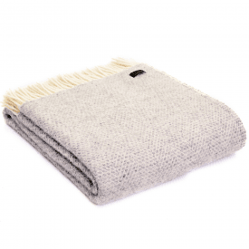 Pure New Wool Grey Beehive Throw
