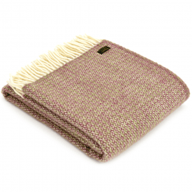Pure New Wool Illusion Raspberry Throw
