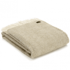 Pure New Wool Knee Lap Blanket, Beehive Oatmeal