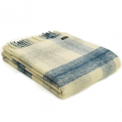 Pure New Wool Meadow Check Ink Throw