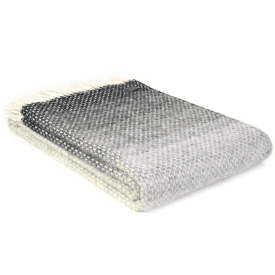 Pure New Wool Ombre Pebble Throw