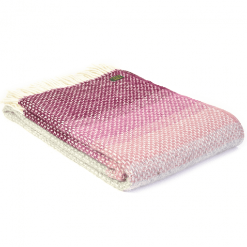 Pure New Wool Ombre Rosewood Throw