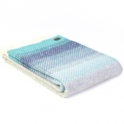 Pure New Wool Ombre Seaside Blue Throw