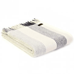 Pure New Wool Pebble Stripe Throw