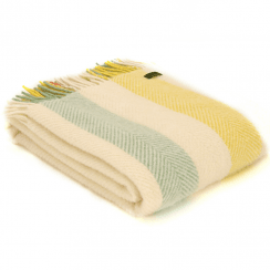 Pure New Wool Sumer Stripe Throw