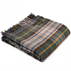 Pure New Wool Tartan Antique Dress Gordon Throw