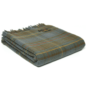 Pure New Wool Tartan Antique Hunting Stewart Throw