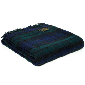 Pure New Wool Tartan Blackwatch Throw