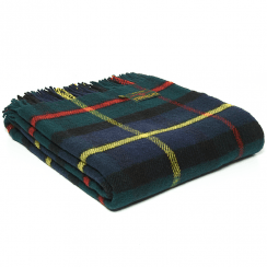 Pure New Wool Tartan Hunting McLeod Throw