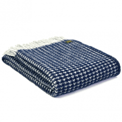 Pure New Wool Treetop Navy Throw