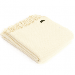 Pure New Wool Wafer Cream Throw