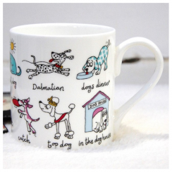 2 Row Little Dogs Mug