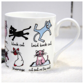 2 Rows of Cats Mug