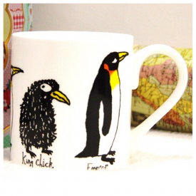 One Row Penguins Mug