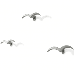 Alouette Set of 3 Hooks Nickel