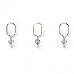 Aura Hook Set of 3 Nickel