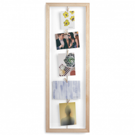 Clothesline Flip Photo Display in Natural